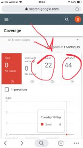 Search console indexation